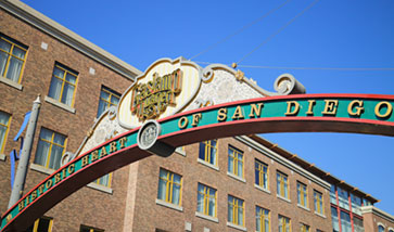 """heart of San Diego"" sign"