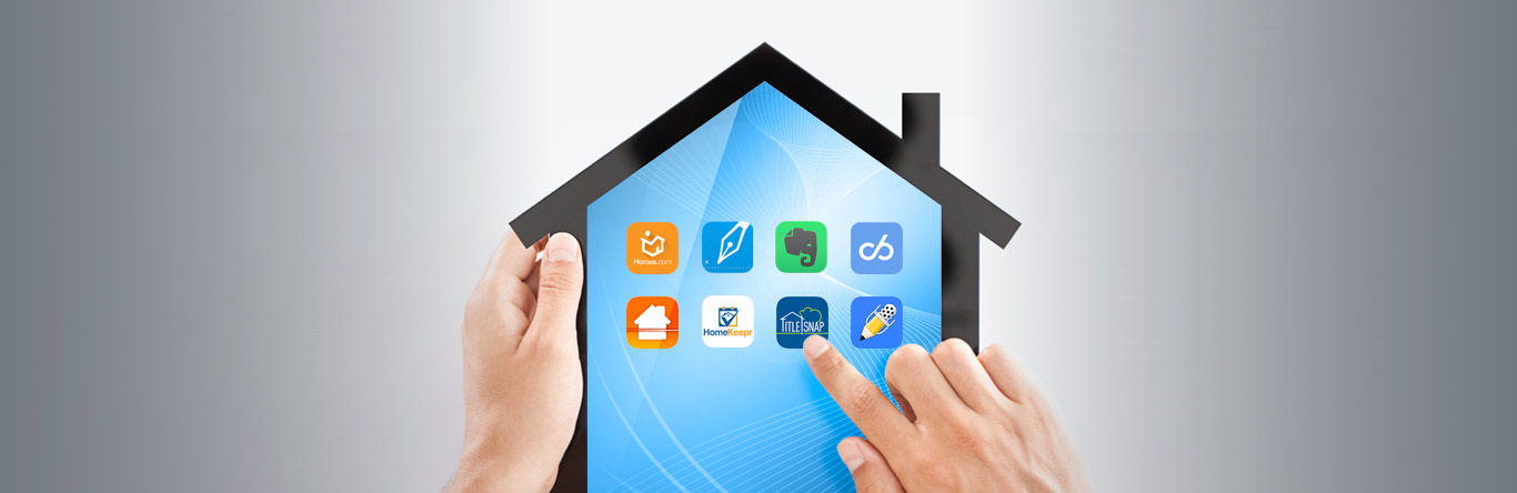 home shaped tablet displaying apps